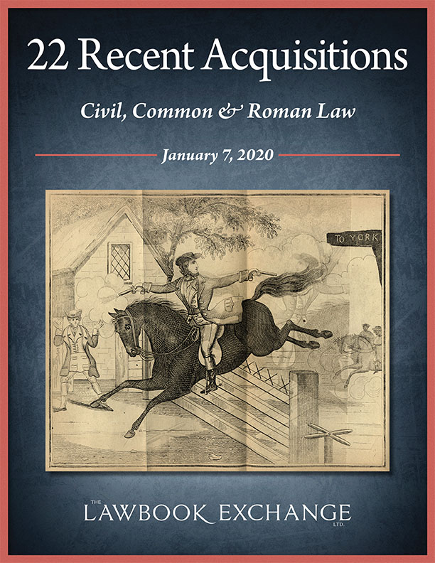 22 Recent Acquisitions: Civil, Common & Roman Law