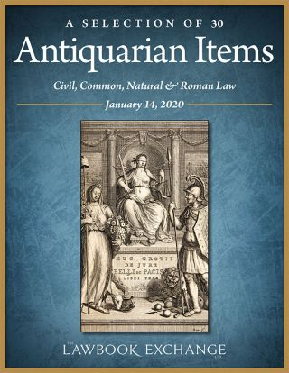 A Selection of 30 Antiquarian Items: Civil, Common, Natural & Roman Law