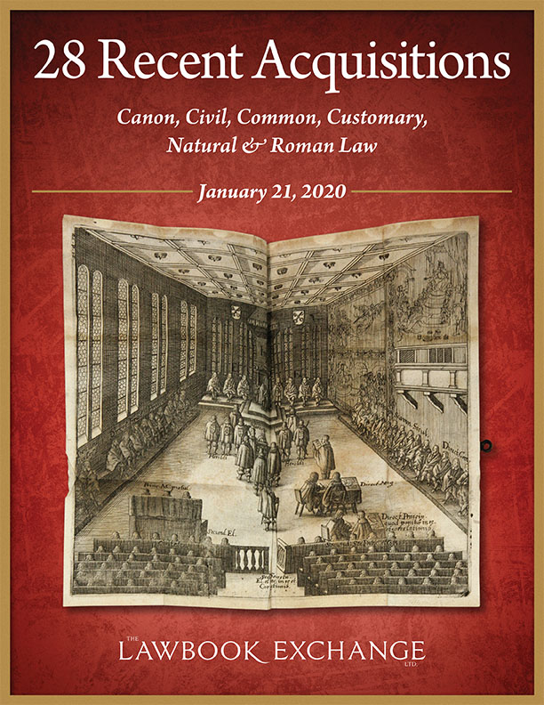 28 Recent Aquisitions: Canon, Civil, Common, Customary, Natural & Roman Law