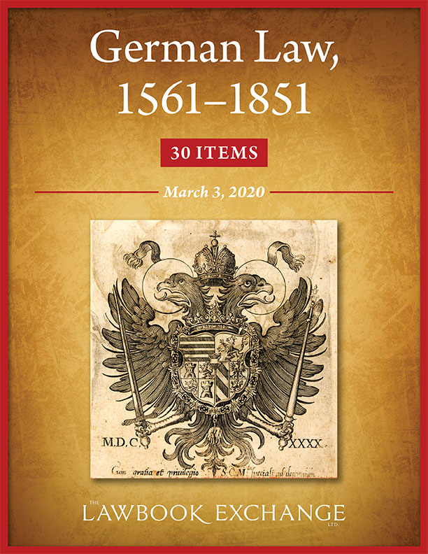 German Law, 1561–1851: 30 Items