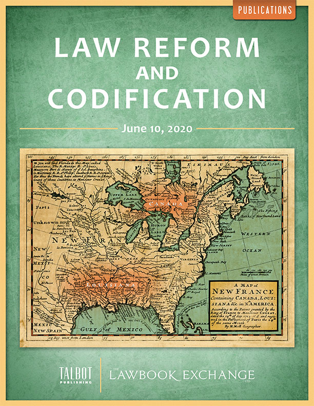 Law Reform and Codification