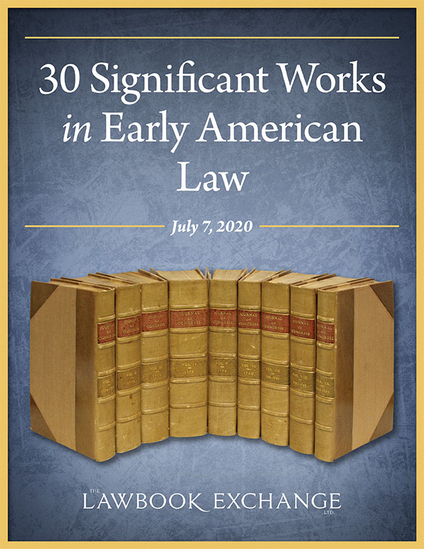 30 Significant Works in Early American Law