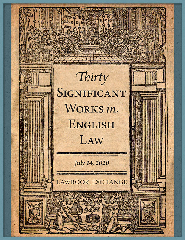 30 Significant Works in English Law
