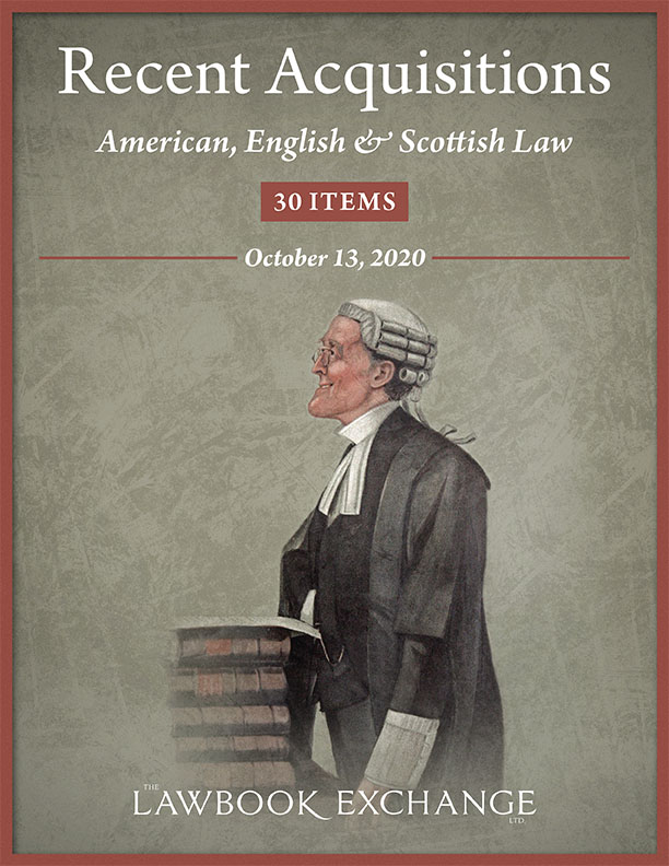 Recent Acquisitions: American, English & Scottish Law - 30 Items