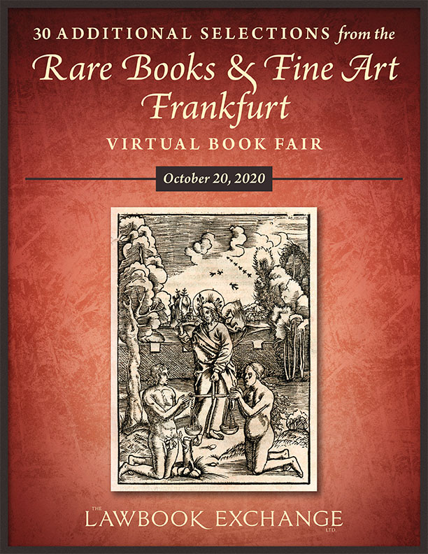 30 Additional Selections from the Rare Books & Fine Art Frankfurt Virtual Book Fair