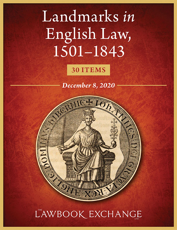 Landmarks in English Law, 1501–1843: 30 Items