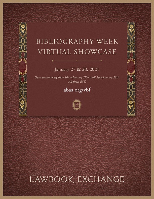 ABAA Bibliography Week Virtual Showcase