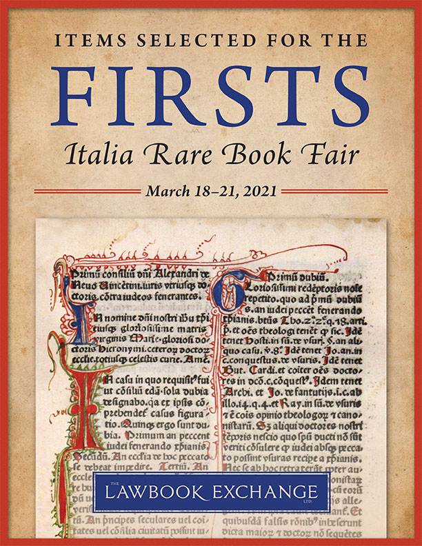 Items Selected for the Firsts Italia Rare Book Fair