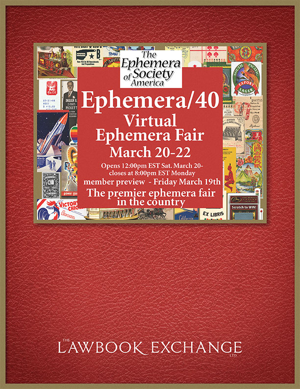 Ephemera/40 Virtual Ephemera Fair
