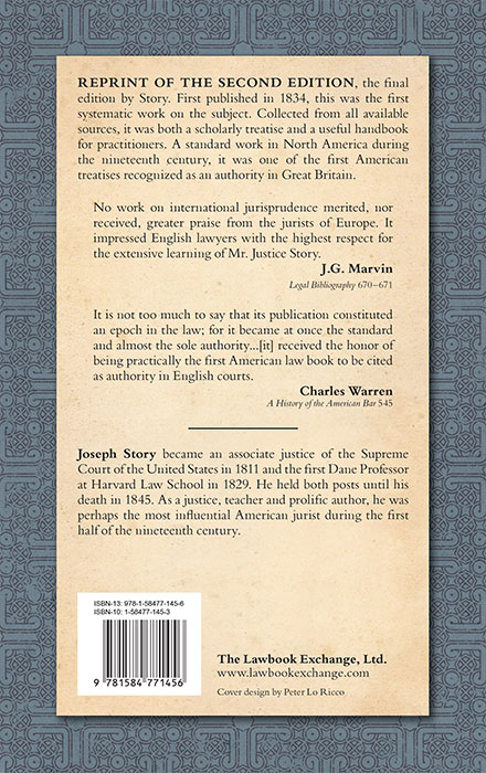 Commentaries On The Times: Commentaries On The Conflict Of Laws Foreign And Domestic