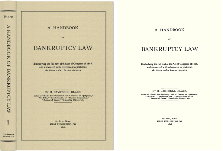 BLACK, H. CAMPBELL - A Handbook of Bankruptcy Law