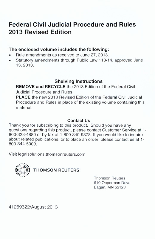 federal civil procedure Easily browse the latest edition of the federal rules of civil procedure (frcp) and quickly find the rule you need to assist with your research.