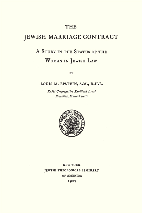 The jewish marriage contract a study in the status of the woman in the jewish marriage contract a study in the status of the woman in altavistaventures Image collections