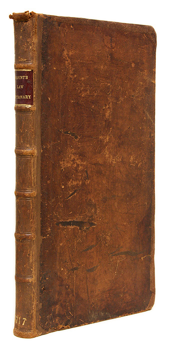BLOUNT, THOMAS; W. NELSON; POLLOCK, SIR FREDERICK - A Law-Dictionary and Glossary, Interpreting Such Difficult and. .