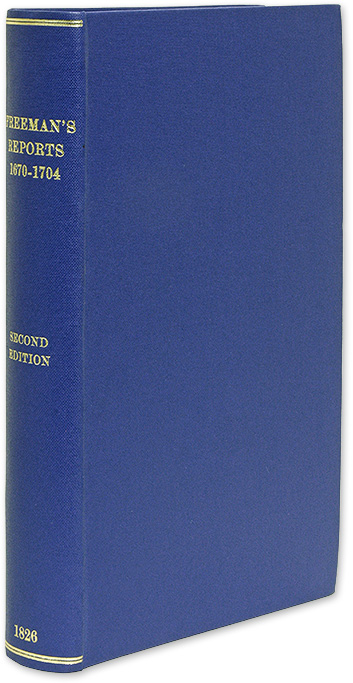 FREEMAN, RICHARD - Reports of Cases Argued and Determined in the Courts of King's Bench.