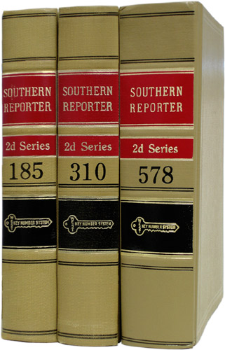 Southern Reporter 2d. 50 linear feet. Thomson West.