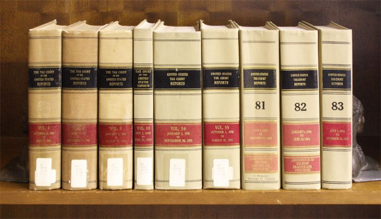 Tax Court Reports of the United States. Volumes 1 to 83 (1942-1984). United States Tax Court.