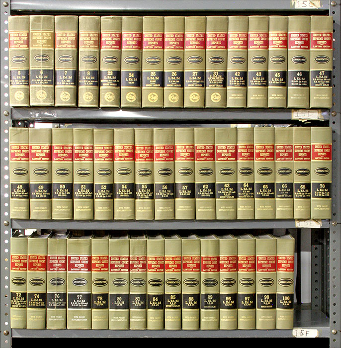 United States Supreme Court Reports L. Ed. 2d. 42 Vols. Lawyers Co-perative Publishing Co.
