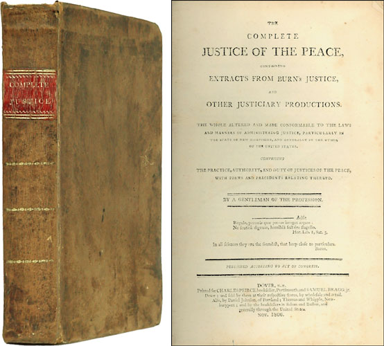 The Complete Justice of the Peace, Containing Extracts from Burn's. Moses Hodgdon.