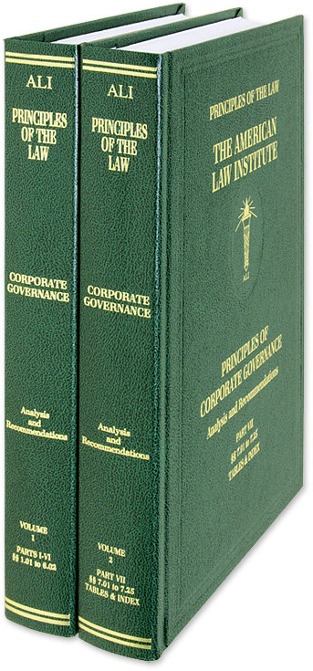 Principles of Corporate Governance. 2 Vols. with 2020 Pocket Parts. American Law Institute.