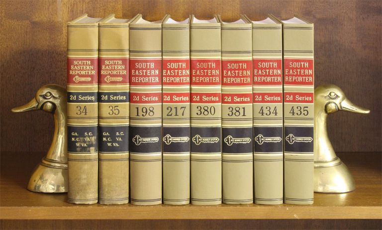 South Eastern Reporter 2d. 116 Vols. 28 feet shelf space. Thomson West.
