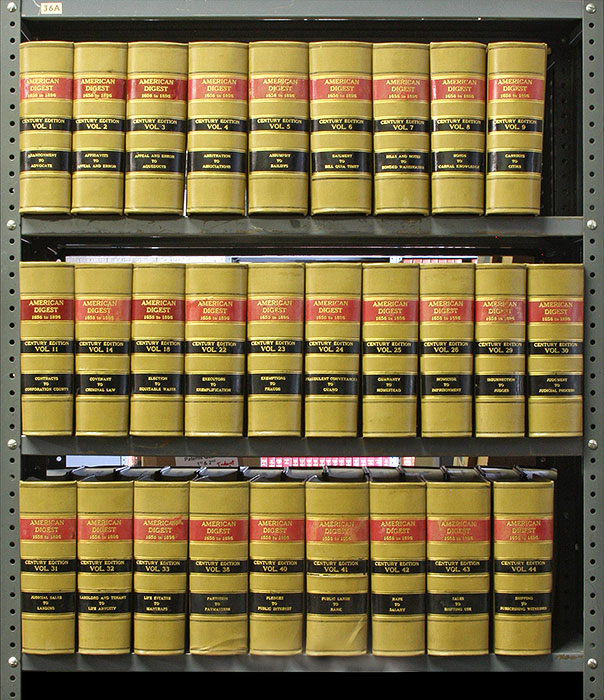 American Digest. Century Edition. 1658 to 1896. 28 vols 12 linear feet. West Publishing Co.
