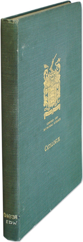 Catalogue of the Books, Pamphlets, And Other Documents in the Library. B. M. Headicar, Edward Fry Library.