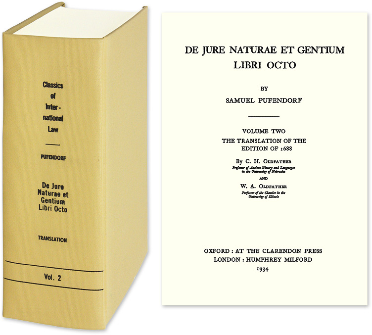 Of The Law Of Nature And Nations, Eight Books in 1 vol. English trans. Samuel von Pufendorf.