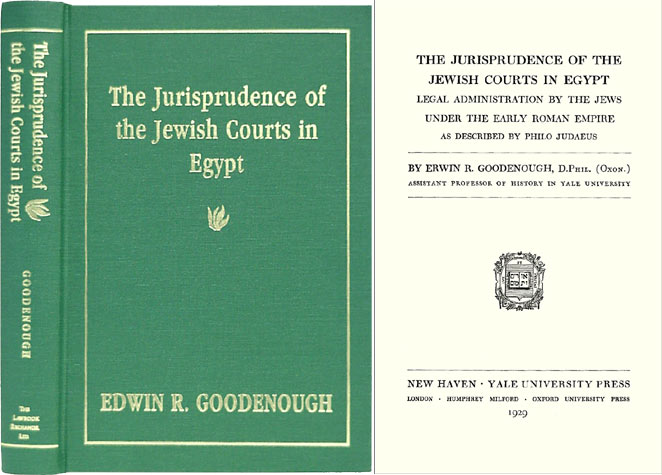 The Jurisprudence of the Jewish Courts in Egypt: Legal. Edwin R. Goodenough.
