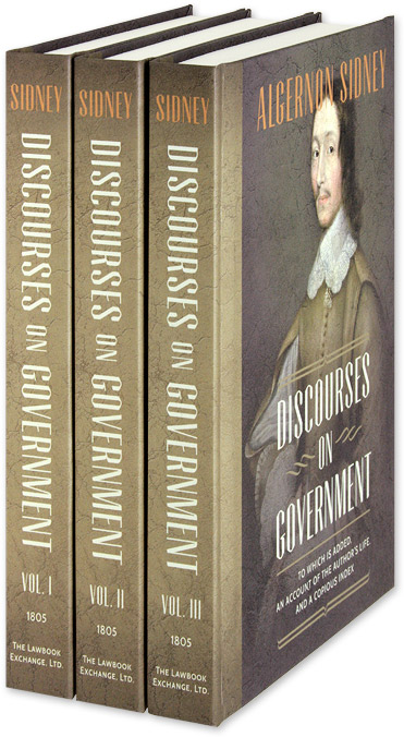 Discourses on Government. 3 Vols. 1st American edition. HARDCOVER. Algernon Sidney.
