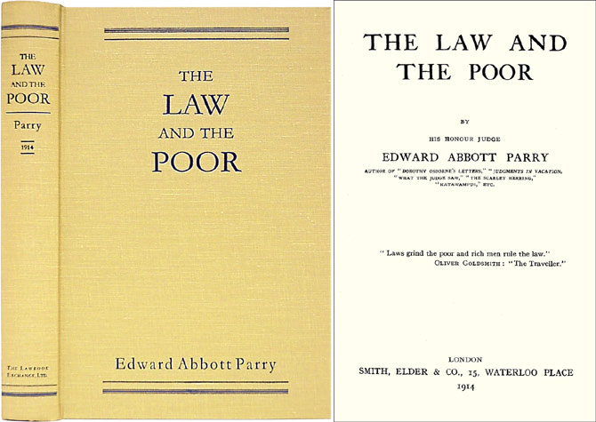 The Law and the Poor. Edward Abbott Parry.