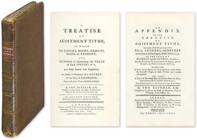A Treatise on Agistment Tithe... [And] An Appendix to the Treatise. Th Bateman, mas.