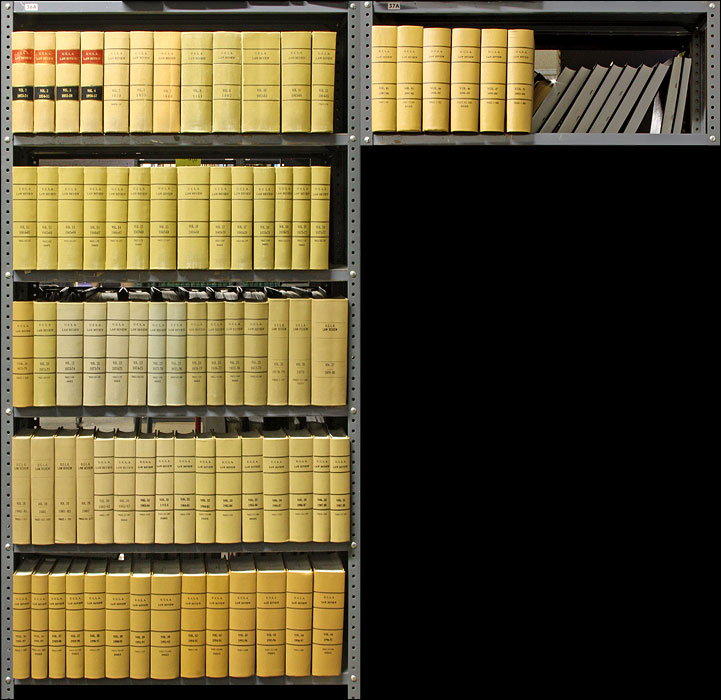 UCLA Law Review. 77 Bound Vols. 1 to 47 no. 3 (1953-2000). School of Law University of California Los Angeles.