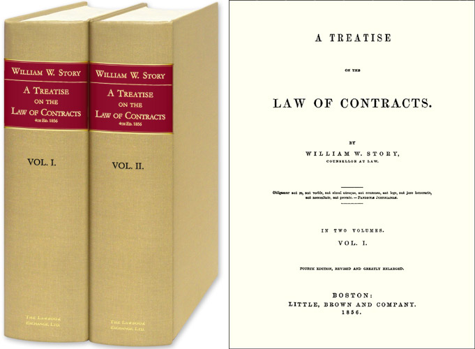 A Treatise on the Law of Contracts. 4th ed. 2 Vols. William W. Story.