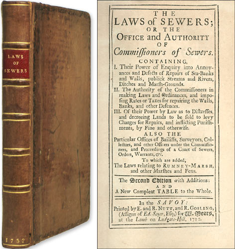 The Laws of Sewers; Or the Office and Authority of Commissioners of. Water Law.