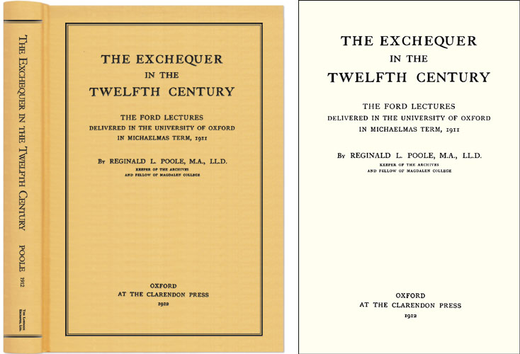 The Exchequer in the Twelfth Century. Reginald Lane Poole.
