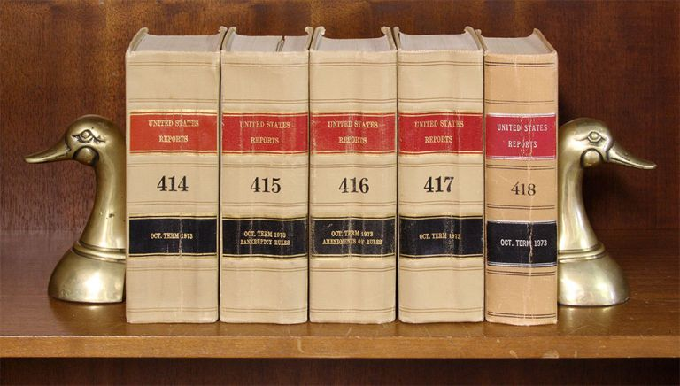 United States Reports. Official edition. Vols. 398-420 (1969-1974). United States Supreme Court.