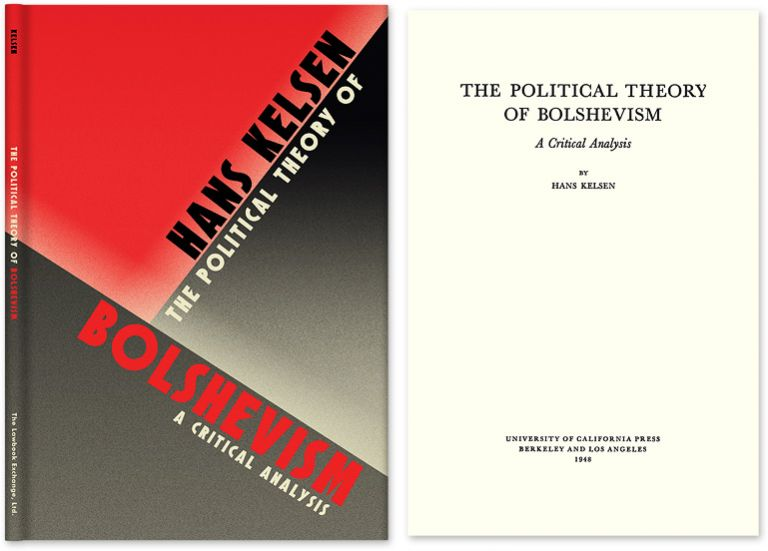 The Political Theory of Bolshevism: A Critical Analysis. Hans Kelsen, HARDCOVER.