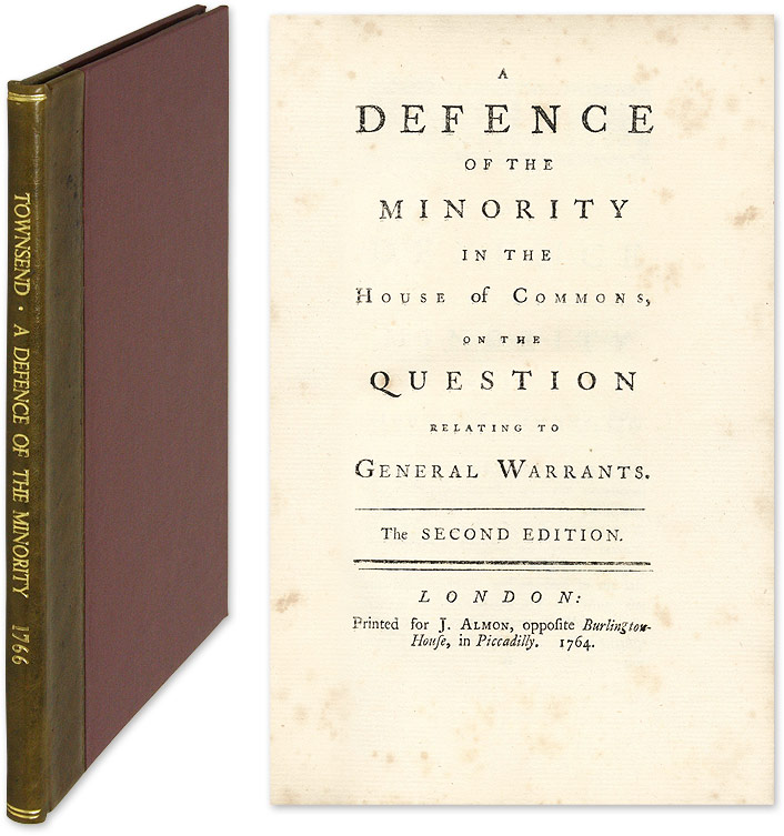 A Defence of the Minority in the House of Commons, On the Question. Charles Townsend, Attributed.