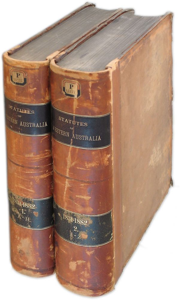 The Statutes Of Western Australia. By Authority. 2 volumes. Western Australia.