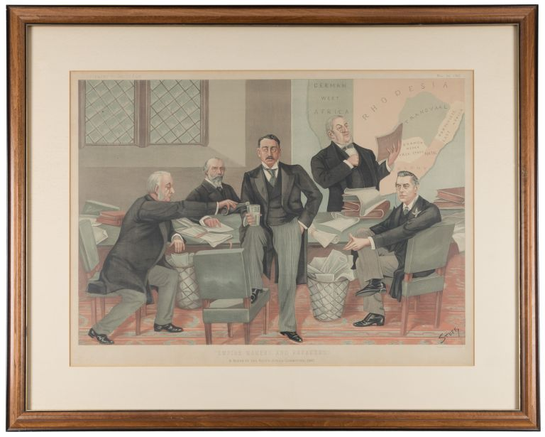 Empire Makers and Breakers: A Scene at the South Africa Committee. Stuff, Henry Charles Seppings-Wright.