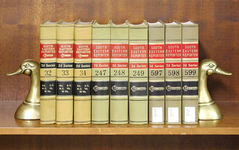 South Eastern Reporter 2d. Vols. 1-599 (1937-2004). 68 linear feet. Thomson West.