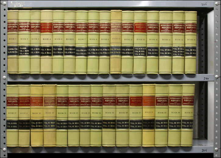 Mississippi Reports. Annotated edition. Vols. 1-31 (1839-1886). West Publishing Co.