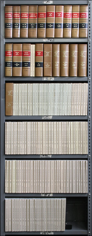 Harvard Law Review. Vols. 95 to 122 no. 8. Odd/misc. paper issues. Harvard Law School.