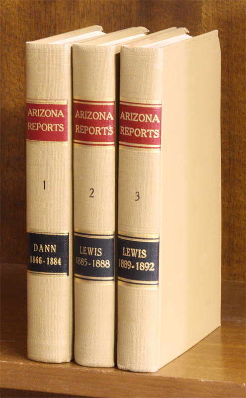 Reports of Cases Argued and Determined in the Supreme Court of the. F. P. Arizona Territory. Dann, reporter.