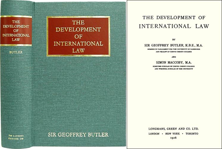 The Development of International Law. Si offrey Butler, Simon Maccoby.