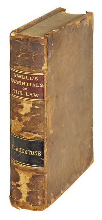 A Review of Blackstone's Commentaries for the Use of Students at Law. Marshall D. Ewell.