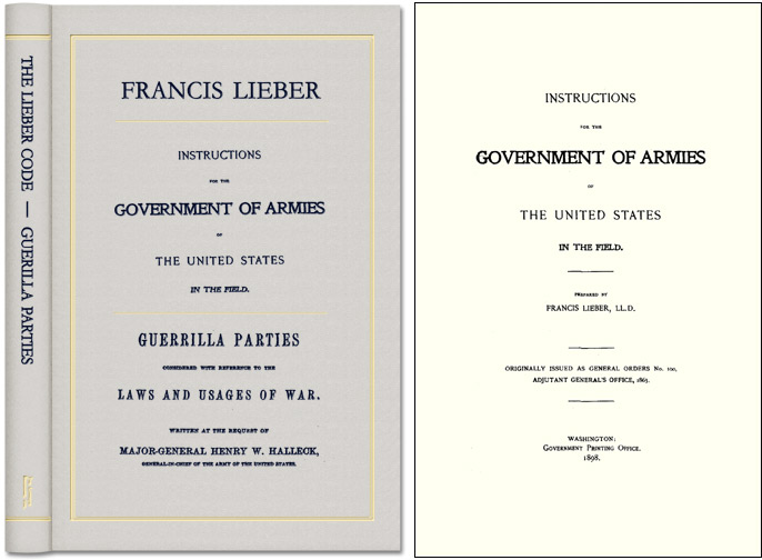 Instructions for the Government of Armies of the United States. Francis: Steve Sheppard Lieber, new I.
