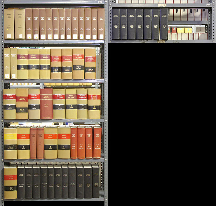 Harvard Law Review. Vols 64 to 104 (1950-1991), in 60 bound volumes. Harvard Law Review.