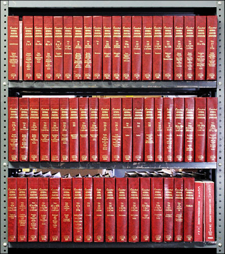Connecticut General Statutes Annotated. 9 linear feet shelf space. Thomson West.